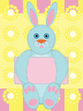 Greeting card with funny rabbit Royalty Free Illustration