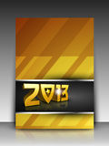 Greeting card or gift card for 2013 Happy New Year. Celebration. EPS 10 stock illustration