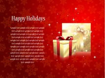 Greeting card with gifts Royalty Free Stock Photos