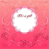Greeting card on girl's arrival Stock Image