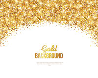 Greeting Card with Gold Confetti Glitter Arch Stock Images