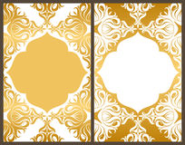 Greeting Card. Gold Royalty Free Stock Photo