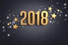 2018 Greeting card Stock Photo