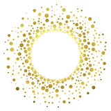 Golden Glitter Round Frame royalty free illustration
