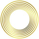 Golden Rings Round Frame stock illustration