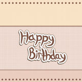 Greeting card greetings happy birthday Royalty Free Stock Images