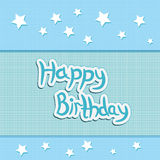 Greeting card greetings happy birthday Royalty Free Stock Photography