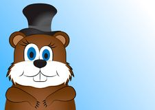 Greeting card on Groundhog day Royalty Free Stock Photos
