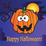 Greeting card for Halloween Royalty Free Stock Photo