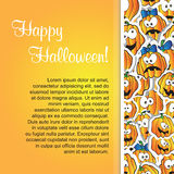 Greeting card for Halloween Stock Images