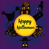 Greeting card for Halloween Stock Image
