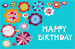 Greeting card - Happy Birthday Royalty Free Stock Photo