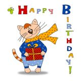 Greeting card - Happy Birthday! Stock Photography