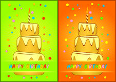 Greeting card happy birthday. Stock Images