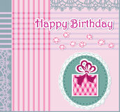 Greeting card with happy birthday Royalty Free Stock Images