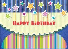 Greeting card Happy Birthday Stock Photo