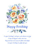 Greeting card Happy Birthday with beautiful Stock Images