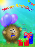 Greeting card happy birthday Stock Image