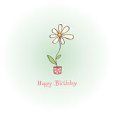 Greeting card - happy birthday Stock Photography