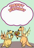 Greeting card. Happy birthday. Stock Image