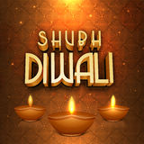 Greeting card for Happy Diwali celebration. Stock Image