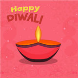 Greeting Card for Happy Diwali celebration. Royalty Free Stock Photos