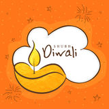 Greeting card for Happy Diwali celebration. Stock Photos