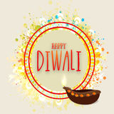 Greeting Card for Happy Diwali celebration. Stock Photo