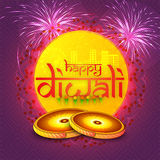 Greeting card for Happy Diwali celebration. Stock Images