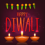 Greeting card for Happy Diwali celebration. Royalty Free Stock Images