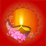 Greeting card for Happy Diwali celebration. Royalty Free Stock Image