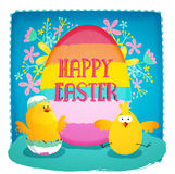Greeting card for Happy Easter celebration. Stock Photography