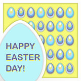Greeting card for Happy Easter Day. Vector Royalty Free Stock Image