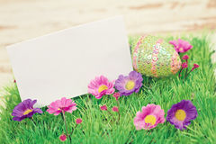 Greeting card happy easter Stock Image