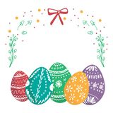 Greeting card happy Easter. royalty free illustration