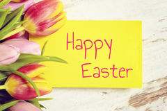 Greeting card happy easter Stock Photography