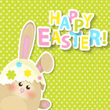 Greeting card for happy easter. Vector. Stock Photo