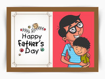 Greeting card for Happy Fathers Day celebration. Stock Photography