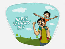 Greeting card for Happy Fathers Day celebration. Stock Photo