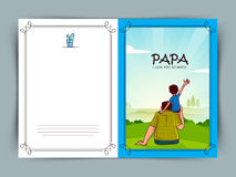 Greeting card for Happy Father's Day celebration. Royalty Free Stock Photography