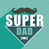 Greeting card for Happy Fathers Day celebration. Stock Photos