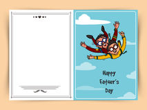 Greeting card for Happy Father's Day celebration. Stock Image