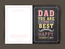 Greeting card for Happy Fathers Day celebration. Stock Image