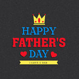 Greeting card for Happy Fathers Day celebration. Royalty Free Stock Photo
