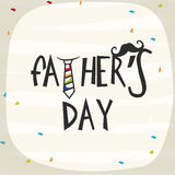 Greeting card for Happy Fathers Day celebration. Stock Images