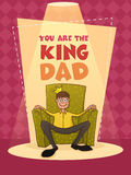 Greeting card for Happy Fathers Day celebration. Royalty Free Stock Images