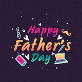 Greeting card for Happy Fathers Day celebration. Royalty Free Stock Photos