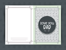 Greeting card for Happy Father's Day celebration. Royalty Free Stock Photo