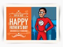 Greeting card for Happy Fathers Day celebration. Royalty Free Stock Photography