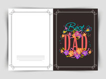 Greeting card for Happy Fathers Day concept. Royalty Free Stock Images